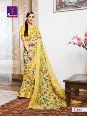 light yellow linen cotton fabric handloom art printe work casual