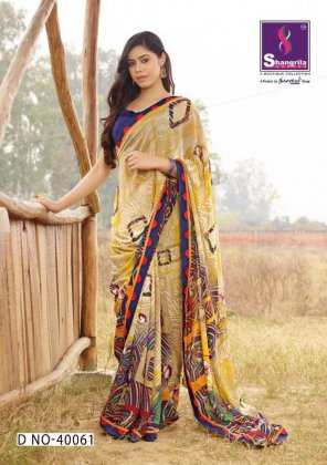 multi pure georgette fabric print work casual