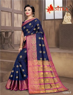 royal blue cotton fabric weaving work casual