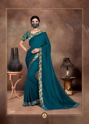 peacock vichitra silk fabric plain work festival