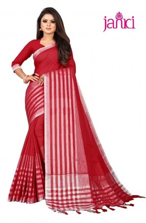 red cotton silk fabric printed work casual