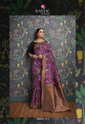 purple silk banarasi fabric weaving work wedding
