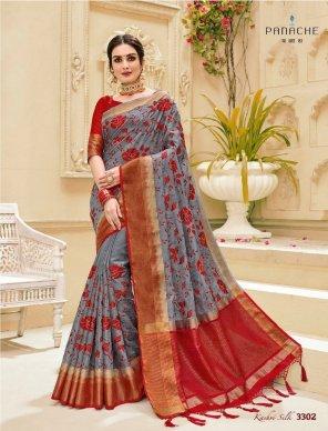 multi silk fabric weaving work wedding