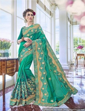 rama georgette fabric embroidery work wedding