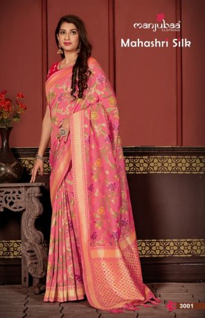 blush pink soft silk fabric weaving work wedding
