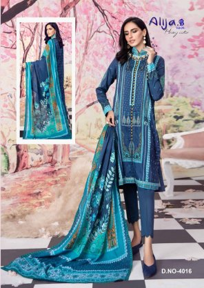 navy blue heavy cotton fabric digital print work casual