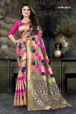 multi jacquar silk fabric weaving work festive