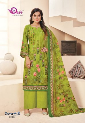 light parrot pure cotton fabric print work casual