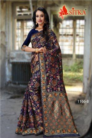 multi cotton silk fabric weaving  work wedding