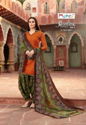 rust pashmina fabric plain work casual
