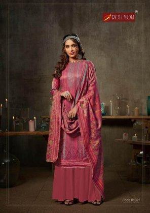 blush pink pashmina jacquard fabric sirosky diamond work festival