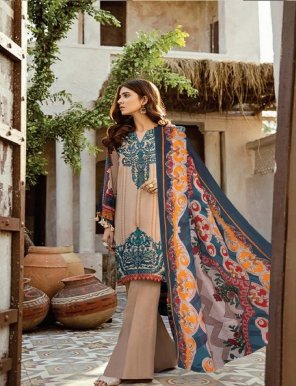 chikoo pure cotton fabric print work casual