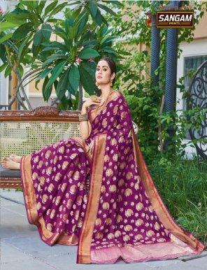 magenta handloom silk fabric weaving work wedding