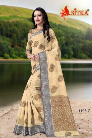 chiku cotton fabric weaving work casual
