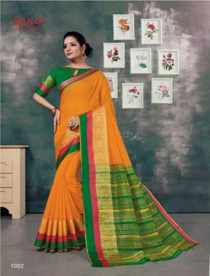 orange jacquard fabric weaving work party