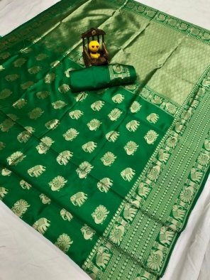 green lichi silk fabric weaving work festival