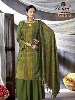 apple green pure pashmina fabric digital fancy print work casual