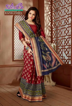 maroon cotton fabric print work casual