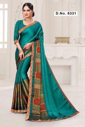 batli green rangoli silk fabric print work casual