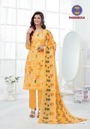 yellow pure cotton fabric print work casual