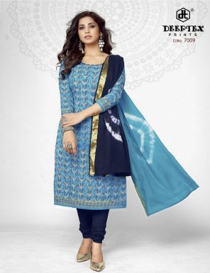 sky pure cotton fabric print work casual