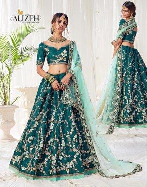 peacock banglori silk fabric thread, zari and sequnece work wedding