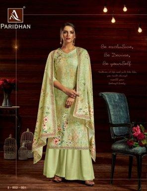 pista pure pashmina fabric self embroidery  work casual