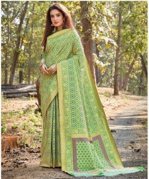pista pure silk fabric weaving work wedding