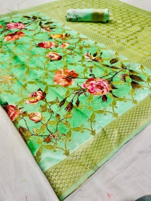 nion  jacqurad fabric digital print work party