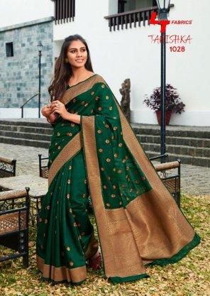 green pure linen silk fabric weaving work festival