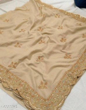 chiku vichitra fabric embroidery work festival
