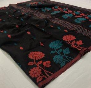 black silk linen cotton fabric weaving work festival
