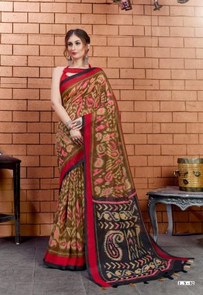 mahendi linen fabric print work casual