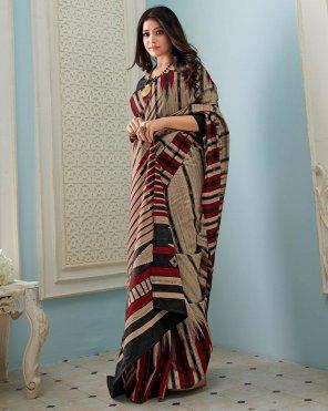 oat bhagalpuri silk fabric printed work festival