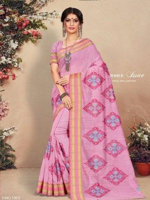 purple cotton fabric thread embroidery work festival