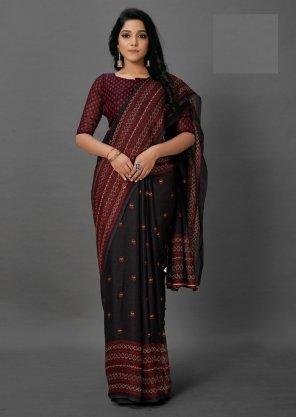 black silk fabric print work casual