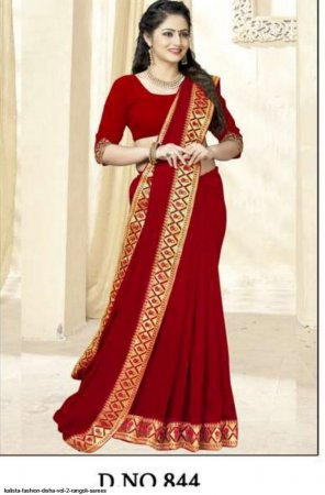 maroon  rangoli silk fabric fancy work work festival