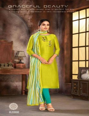 lime modal cotton fabric embroidery  work festival