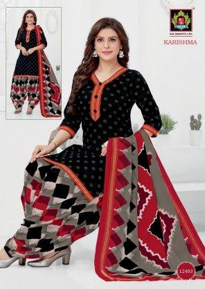 black pure cotton fabric print work casual