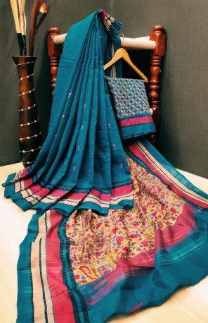 rama cotton silk fabric print work casual