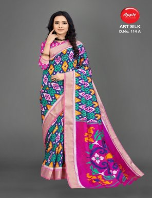 pink  art silk fabric printed work casual
