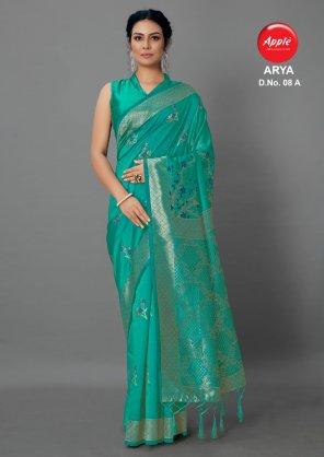 rama cotton silk fabric printed work casual
