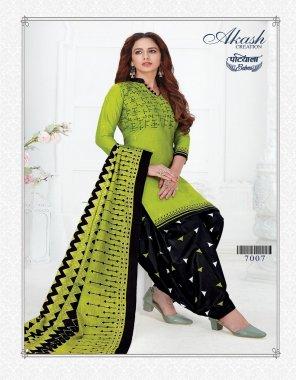 green & black pure cotton fabric printed work running