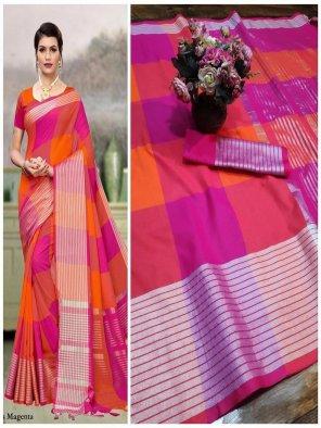 multi colorfull soft cotton silk fabric checks print work casual