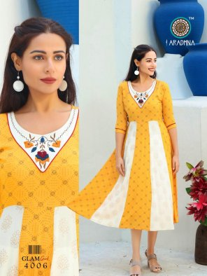 light yellow rayon fabric embroidery and hand work work party