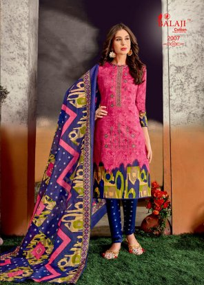 pink cotton fabric printed work wedding