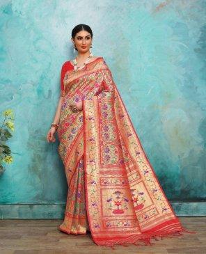 kandhika pure pathani silk fabric weaving work wedding