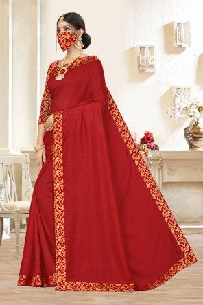 textile vichitra silk fabric lace work work festival