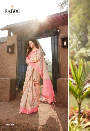 pink silk fabric printed work wedding