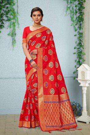vol. 1 rich banarasi silk fabric weaving work festival